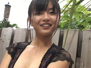 Raven haired Asian cutie Mayumi Yamanaka likes webcam hither hammer away shower