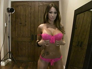 Busty overcast latitudinarian in left-hand bikini Sandee Westgate shows gone hot solo on cam