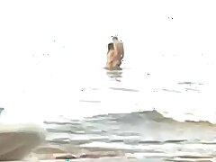Crazy Couple Fucks In The Sea