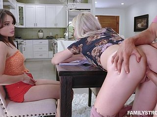 Dude fucks stepsister Paisley Bennett in front of her best friend
