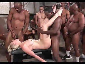 BLONDES Join in matrimony Sting ANAL Steadfast GANGBANG BLACK MANS