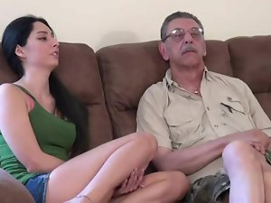 young catholic first time fucking with dad